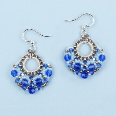 Beaded Fan Earrings | Take a Make Break