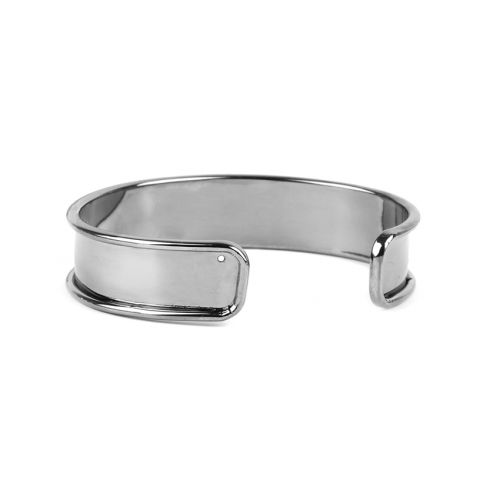 Gunmetal Plated Brass Bangle Base 14.5x66mm Pk1