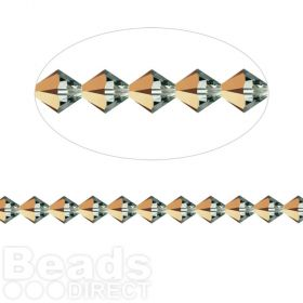 5328 Swarovski Crystal Bicone Xillion 3mm Crystal Rose Gold Pk24