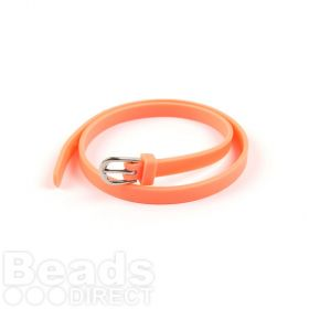 Coral Rubber Bracelet Base With Buckle Latex Free 37cm