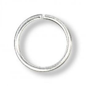 Silver-plated jump ring 10mm. Pack of 100