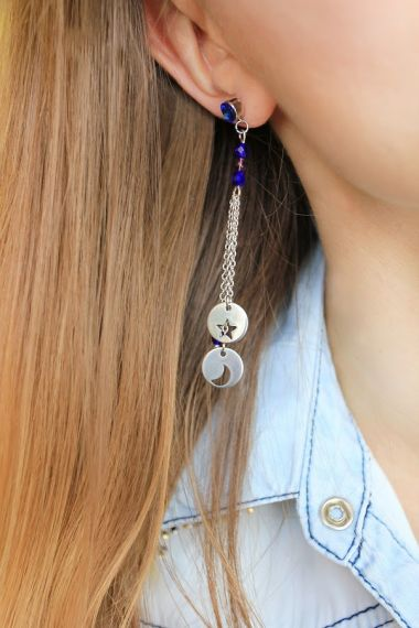 How to make DIY dangling earrings - jewellery making tutorial