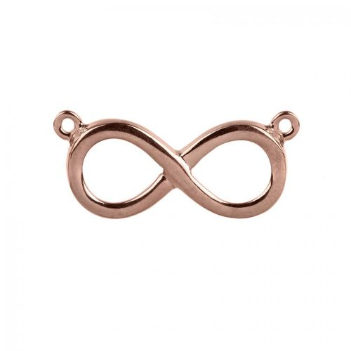 Rose Gold Plated Sterling Silver 925 Infinity Connector Charm 12x21mm Pk1