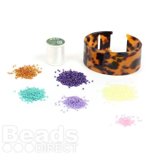 Beads Direct Geometric Toho Aiko Tortoise Cuff Kit