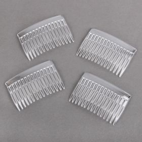 Hair Comb 40x70mm Clear Pk4