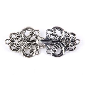Antique Silver Flower Pattern Pk10