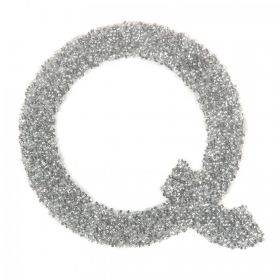 Swarovski Crystal Letter 'Q' Self-Adhesive Fabric-It Transparent CAL Pk1