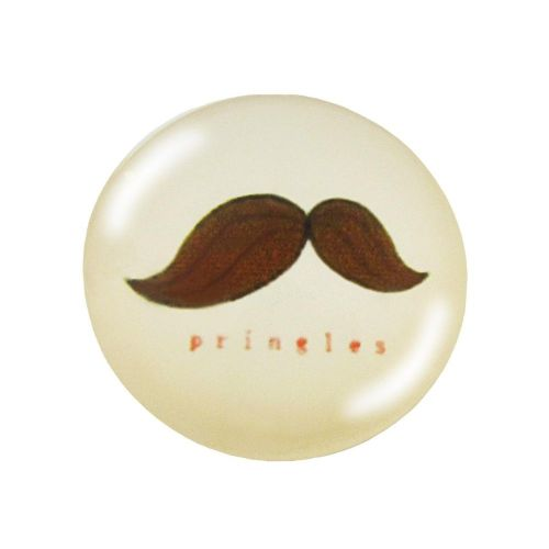 Glass cabochon with graphics K25 PT1034 / cream-brown / 25mm / 2pcs