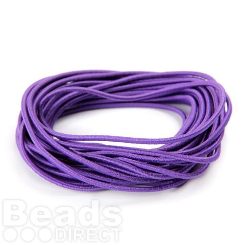 Purple Elasticated 2mm Shock Cord Pre Cut into 5metre Length