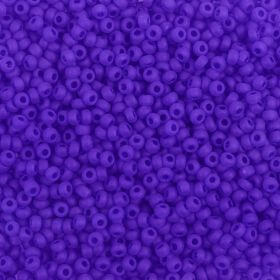 Preciosa Size 9 Rocaille Seed Beads Opaque Frosted Sapphire 50g
