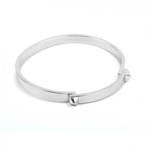 Silver Plated Brass Bangle Base with Studs 5x58mm Pk1