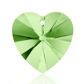 6228 Swarovski Crystal Hearts 10mm Peridot Pk288