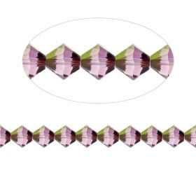 5328 Swarovski Crystal Bicones Xillion 4mm Crystal Lilac Shadow Pk24