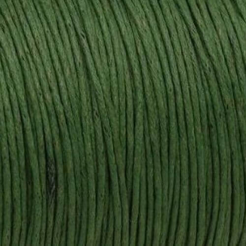 Waxed cord / olive cord / 1.0mm / 1m