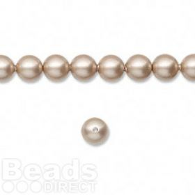 5810 Swarovski Glass Pearls 6mm Powder Almond Pk50
