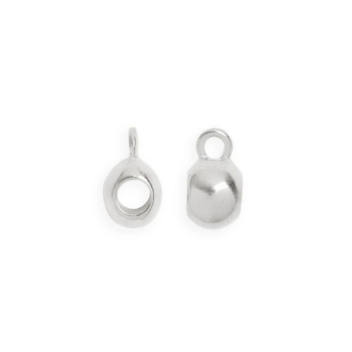 Titanium Plated Smooth Charm Carrier 3mm with Loop Pk2