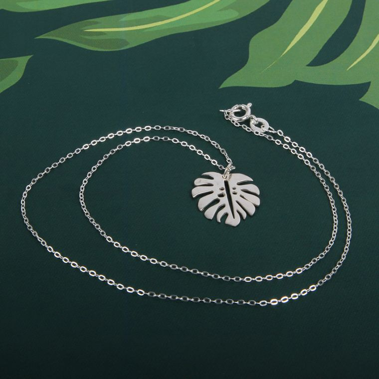 Monstera Leaf Necklace | Mini-Make