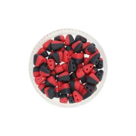 NIB-BIT™ / 6x5mm / Matte Opaque / Red Black / 5g / ~27pcs