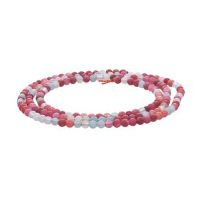 Agate / round / 2mm / pink-blue shades / 170pcs