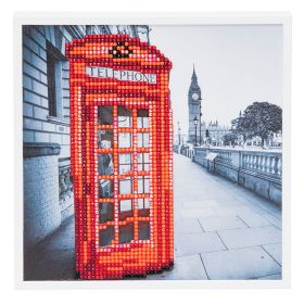 "Craft Buddy ""London"" Framed Crystal Art Kit 20x20cm"