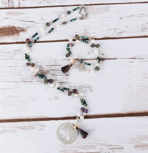 Karma Pearl and Pyrite Jewellery Set | Festival Jewellery