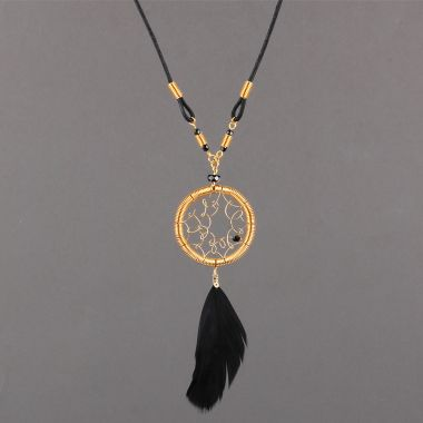 Gold Dreamcatcher Necklace | by Linda Jones