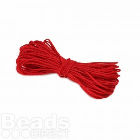 Waxed Nylon Cord 1mm x 9m Red