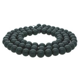 Milly™ / satin round / 8mm / dark green / 100pcs