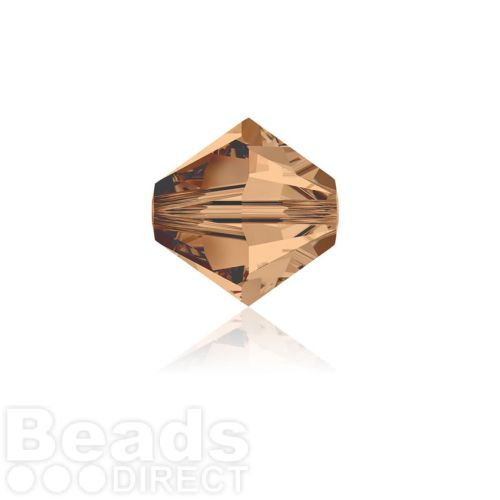 5328 Swarovski Crystal Bicones 4mm Light Smoked Topaz Pk1440