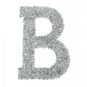 Swarovski Crystal Letter 'B' Self-Adhesive Fabric-It Transparent CAL Pk1