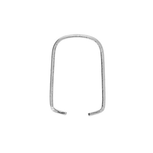 Pinch Bail / surgical steel / 8x4x7mm / silver / 10pcs