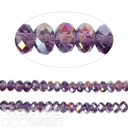 Essential Crystal Faceted 4mm Rondelle Purple VioletAB 150pk