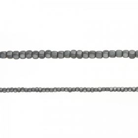 "Matte Grey Hematite Cube Beads 3mm 16"" Strand approx. 200 Beads"