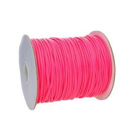 Coated twine / 3.0mm / neon pink / 40m