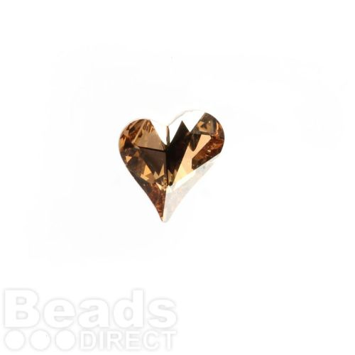 4809 Swarovski Crystal Sweet Heart Stone 12x13mm Crystal Golden Shadow F Pk1
