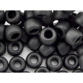 TOHO™ / Round 3/0 / Opaque Frosted / Jet / 10g / ~60pcs