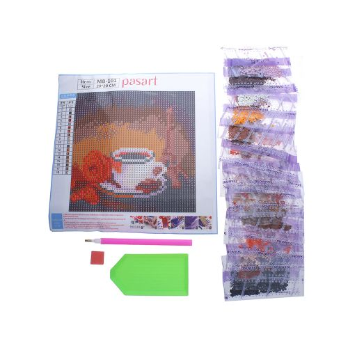 Diamond painting / mosaic / cup / 20x20cm / 1pcs