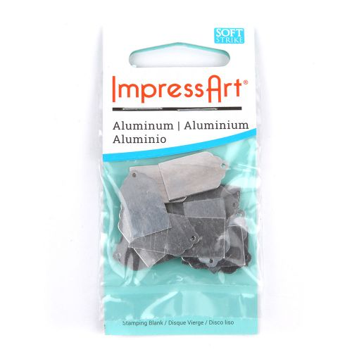 ImpressArt Aluminium Metal Tag for Stamping 20x10mm Pack of 20 Pieces