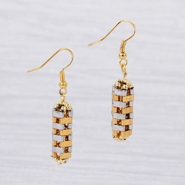 'Hexagonal Prism' Earrings