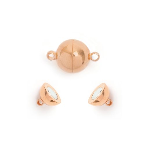 Rose Gold Plated Magnetic Ball Clasp 8mm Pk1