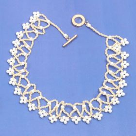 Beads Direct Bridal Tones Netted Collar Necklace Kit - Makes x2