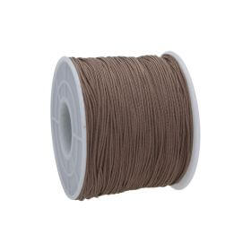 Macramé™ / Macramé cord / nylon / 0.6mm / brown / 135m