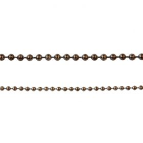 Gunmetal Plated Brass 3mm Ball Chain w/2 Clasp 1 Metre Length