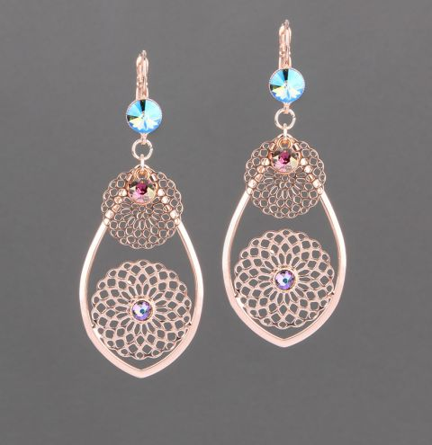 Rose Filigree Earrings