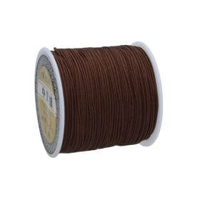 Macramé™ / Macramé cord / nylon / 0.8mm / brown / 100m
