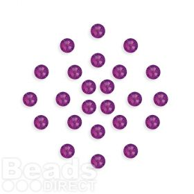 2088 Swarovski Crystal 4mm Amethyst F Xillion Flat Backs Pk24
