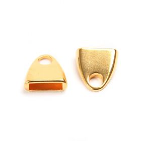 Gold Plated Zamak Cord Ends 13mm for 10mm Flat Leather Pk2