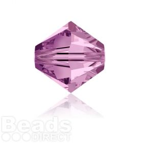 5328 Swarovski Crystal Bicones 6mm Light Amethyst Pk360