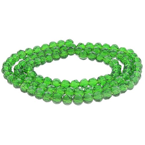 CrystaLove™ crystals / glass / round / 3mm / peridot / lustered / 200pcs