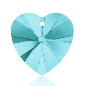 6228 Swarovski Crystal Hearts 10mm Light Turquoise Pk288